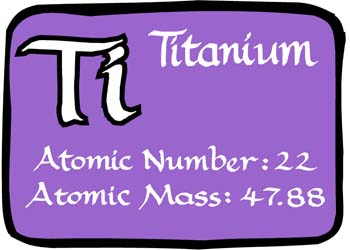 Attractive In The Periodic Table, Titanium Is The First Element In The Fourth Column.  Titanium Metal Has An Atomic Number Twenty Two.