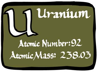 Uranium facts science for kids of the periodic table in the actinide series among the naturally occurring elements uranium is the heaviest element a uranium atom has 92 electrons urtaz Choice Image